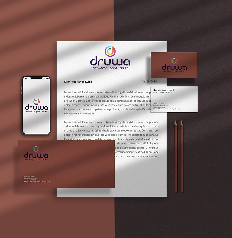 zakelijk drukwerk met logo Druwa